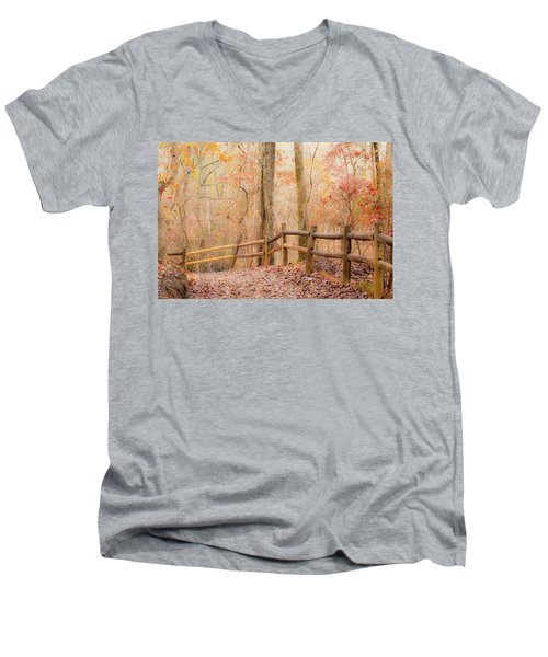 Men's V-Neck T-Shirt featuring the photograph Georgia Fall by RC Pics