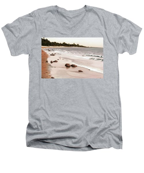 Georgian Bay Beach Men's V-Neck T-Shirt