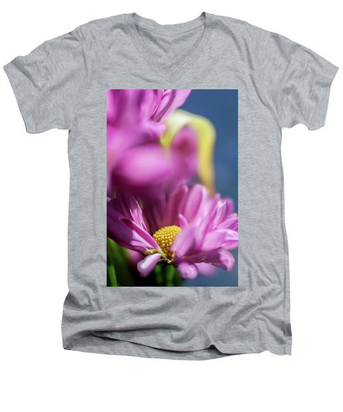 Gerber Daisy In Purple Men's V-Neck T-Shirt