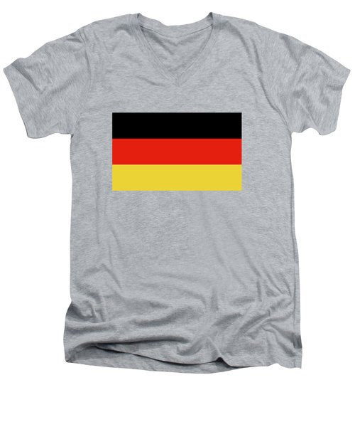 Men's V-Neck T-Shirt featuring the digital art German Flag by Bruce Stanfield