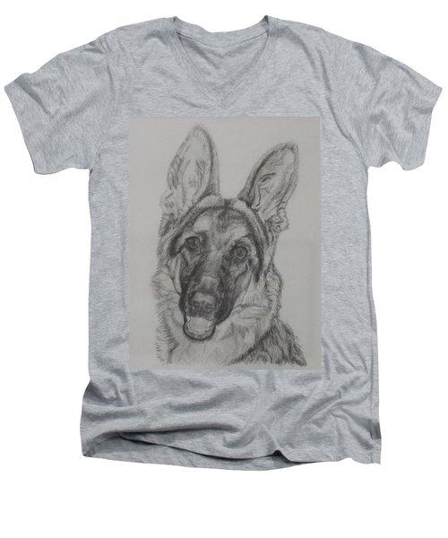 German Shepherd  Men's V-Neck T-Shirt