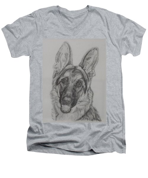German Shepherd  Men's V-Neck T-Shirt