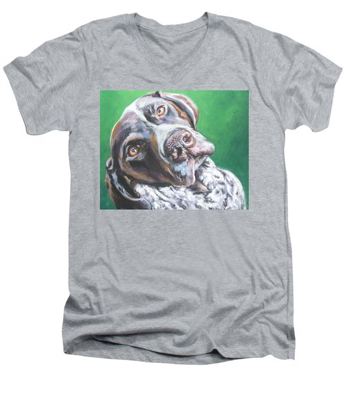 German Shorthaired Pointer Men's V-Neck T-Shirt
