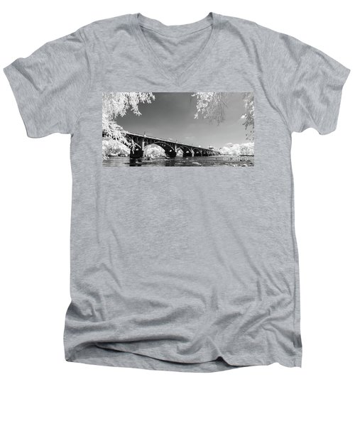 Gervais Street Bridge In Ir1 Men's V-Neck T-Shirt