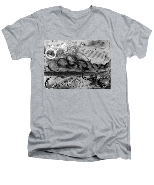 Get Into The Game Men's V-Neck T-Shirt by Tracy Bonin