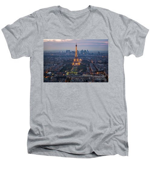 Get Ready For The Show Men's V-Neck T-Shirt by Giuseppe Torre