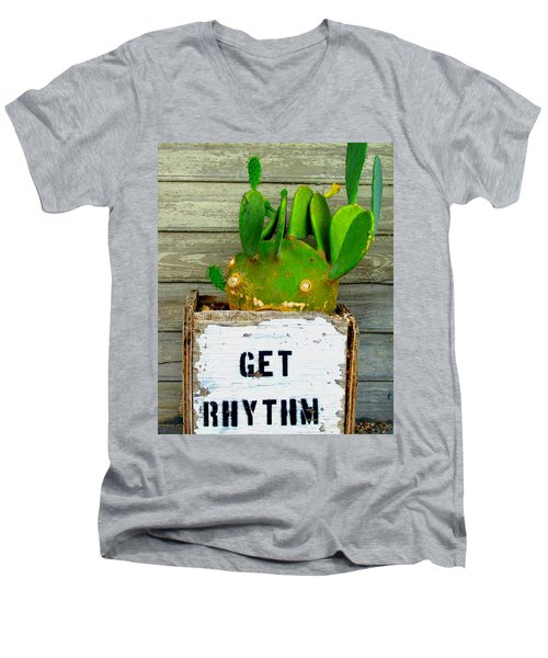 Get Rhythm Men's V-Neck T-Shirt