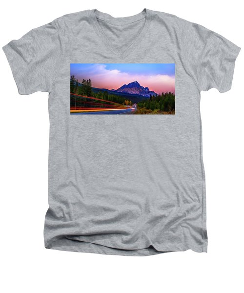Men's V-Neck T-Shirt featuring the photograph Get Your Motor Running by John Poon