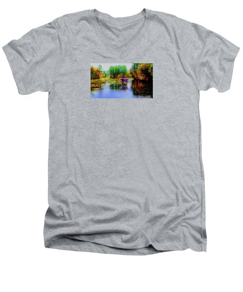 Men's V-Neck T-Shirt featuring the photograph Get Your Own Cream by Mike Breau