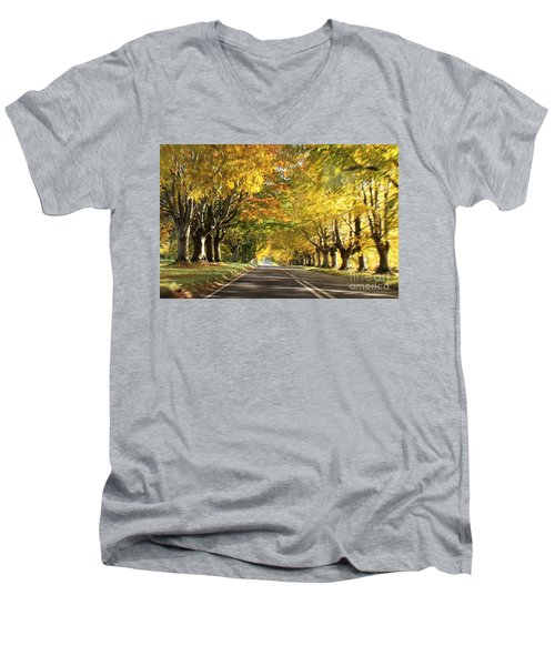 Men's V-Neck T-Shirt featuring the photograph Getting Change... by Katy Mei