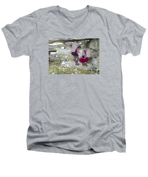 Getting Her Wings Men's V-Neck T-Shirt