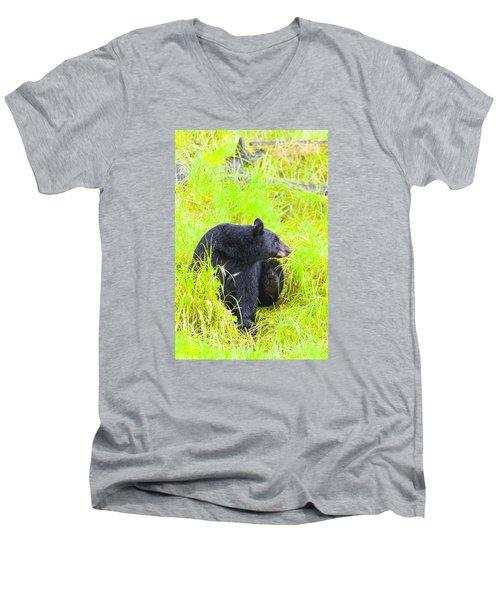 Getting Ready Men's V-Neck T-Shirt by Harold Piskiel