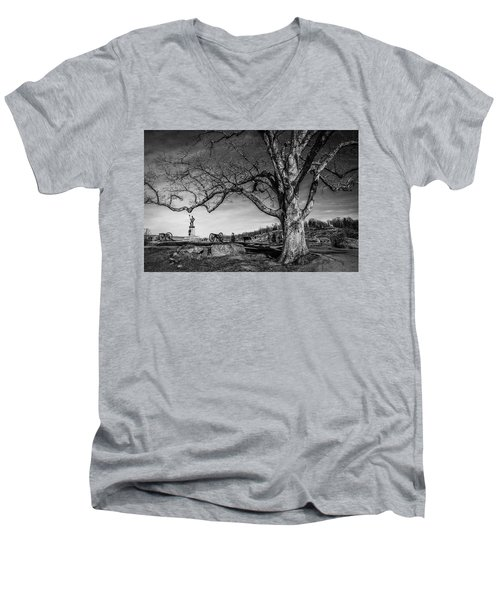 Gettysburg Below Little Round Top Men's V-Neck T-Shirt