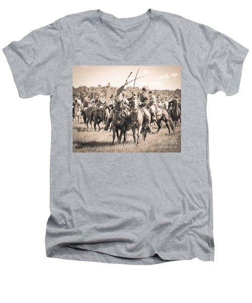 Gettysburg Cavalry Battle 7992s  Men's V-Neck T-Shirt