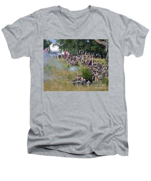 Gettysburg Confederate Infantry 8825c Men's V-Neck T-Shirt