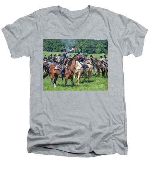 Gettysburg  Union Cavalry 7920c  Men's V-Neck T-Shirt