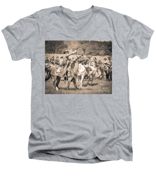 Gettysburg  Union Cavalry 7920s  Men's V-Neck T-Shirt