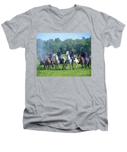 Gettysburg  Union Cavalry Men's V-Neck T-Shirt