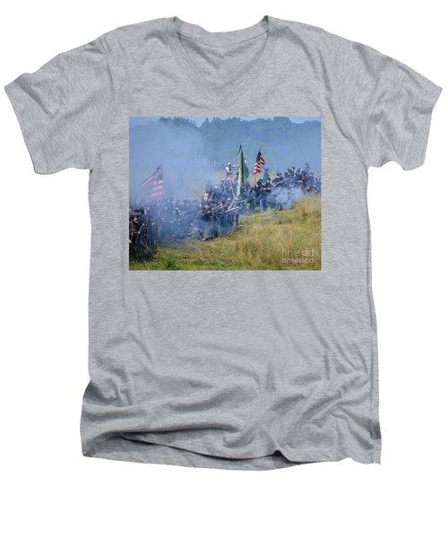 Gettysburg Union Infantry 8947c Men's V-Neck T-Shirt