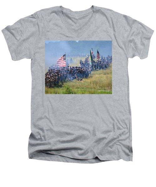 Gettysburg Union Infantry 8948c Men's V-Neck T-Shirt