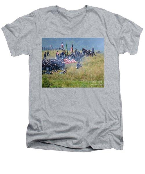 Gettysburg Union Infantry 8963c Men's V-Neck T-Shirt