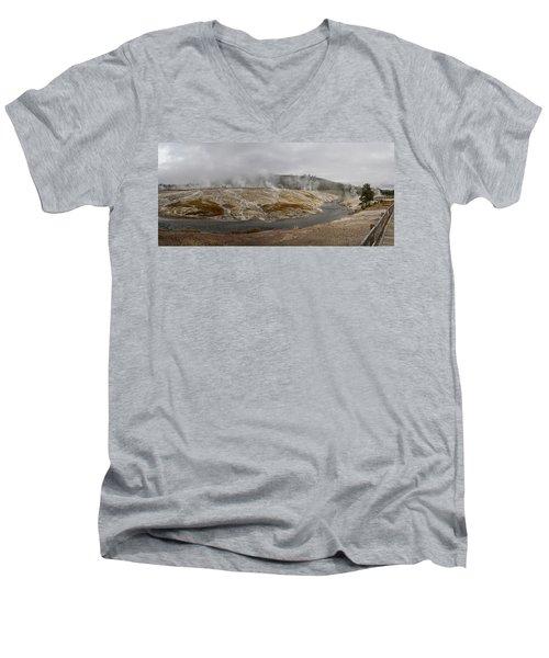 Geyser Hill  Men's V-Neck T-Shirt by Shirley Mitchell