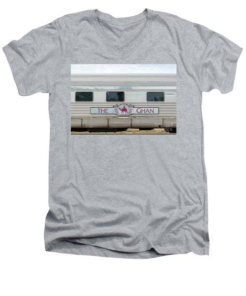 Ghan Train At Alice Springs Men's V-Neck T-Shirt