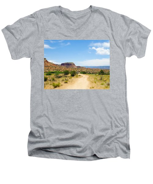 Ghost Ranch  Men's V-Neck T-Shirt