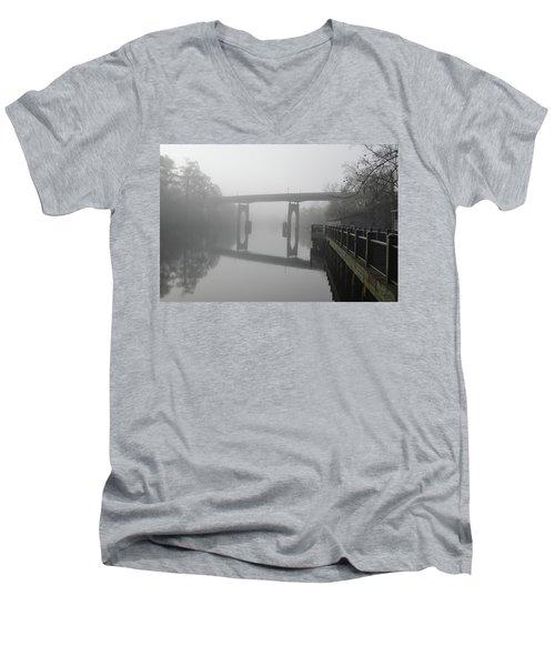 Ghost River Men's V-Neck T-Shirt by Gordon Mooneyhan