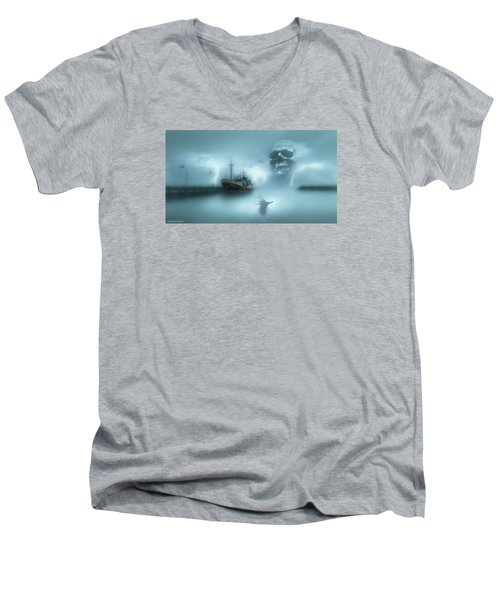 Ghost Ship 0002 Men's V-Neck T-Shirt by Kevin Chippindall