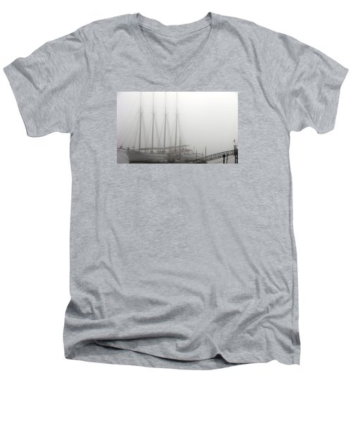 Ghost Ship Men's V-Neck T-Shirt by Helen Haw