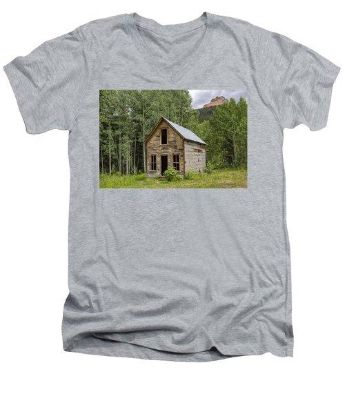 Ghost Town Schoolhouse Men's V-Neck T-Shirt