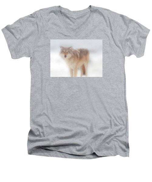 Ghost Wolf Men's V-Neck T-Shirt