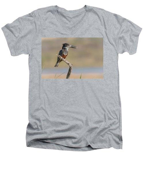 Giant Kingfisher Men's V-Neck T-Shirt