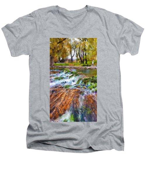 Giant Springs 2 Men's V-Neck T-Shirt by Susan Kinney