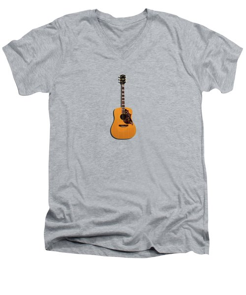 Gibson Hummingbird 1968 Men's V-Neck T-Shirt by Mark Rogan