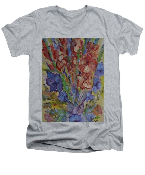 Gilded Flowers Men's V-Neck T-Shirt