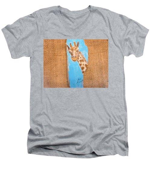 Giraffe  Men's V-Neck T-Shirt by Ann Michelle Swadener