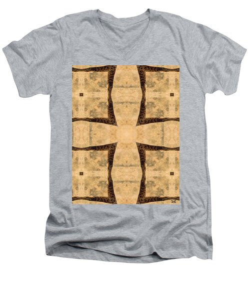 Giraffe Cross Men's V-Neck T-Shirt