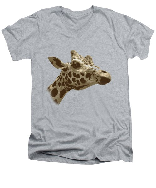 Giraffe Men's V-Neck T-Shirt