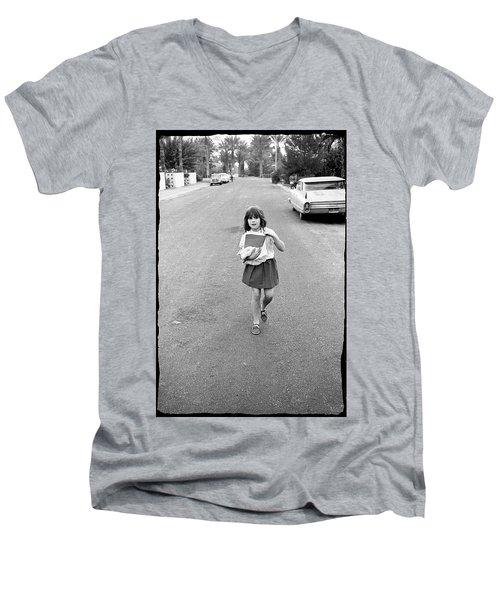 Girl On 13th Street, 1971 Men's V-Neck T-Shirt