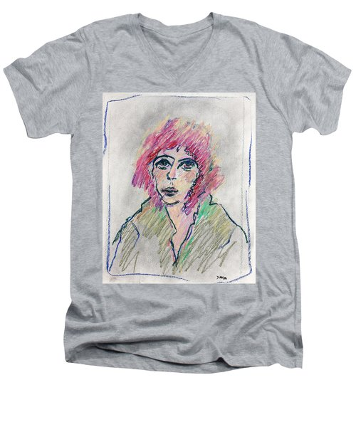 Girl With Pink Hair  Men's V-Neck T-Shirt