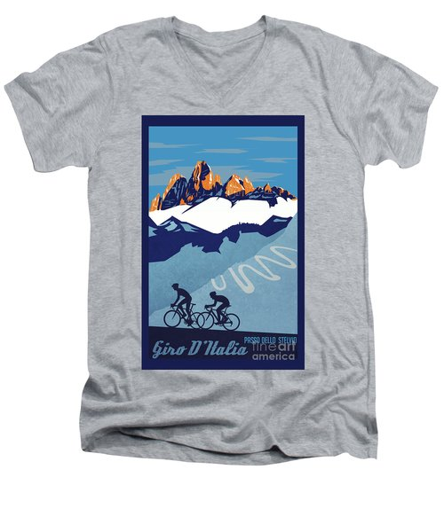 Giro D'italia Cycling Poster Men's V-Neck T-Shirt