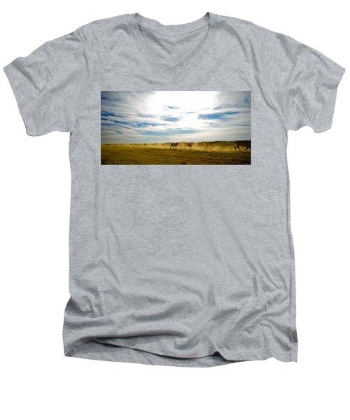 Git Along Men's V-Neck T-Shirt