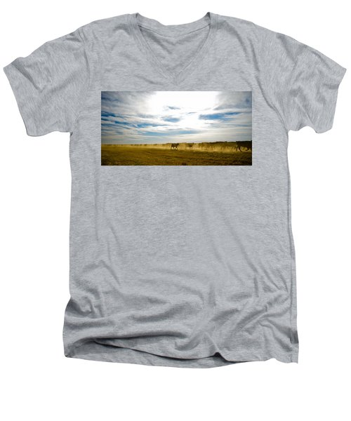 Git Along Men's V-Neck T-Shirt