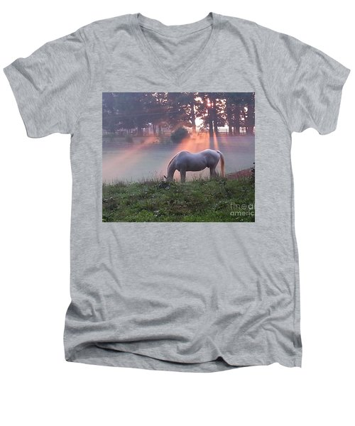 Gitchie And The Sunrise Men's V-Neck T-Shirt