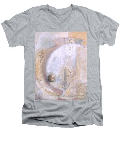 Give And Receive Men's V-Neck T-Shirt by Kerryn Madsen-Pietsch