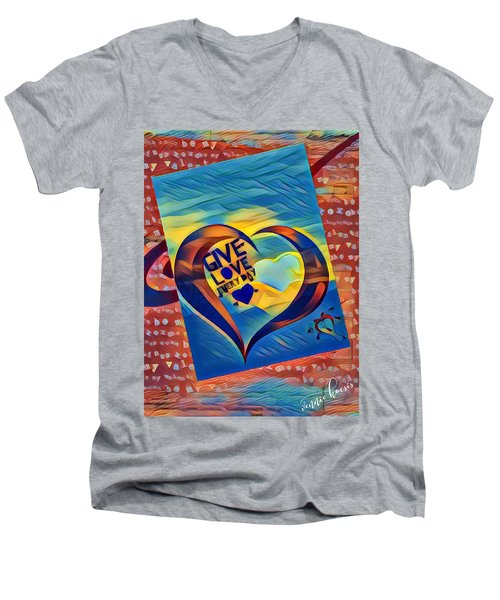 Give Love Men's V-Neck T-Shirt