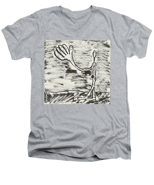 Give Me A Hand Men's V-Neck T-Shirt