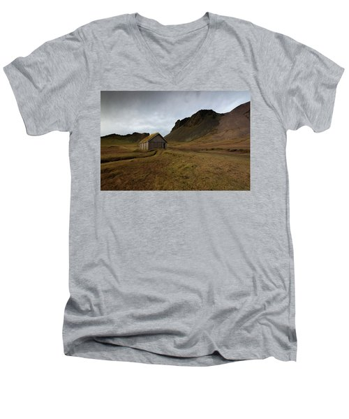 Men's V-Neck T-Shirt featuring the photograph Give Me Shelter by Allen Biedrzycki